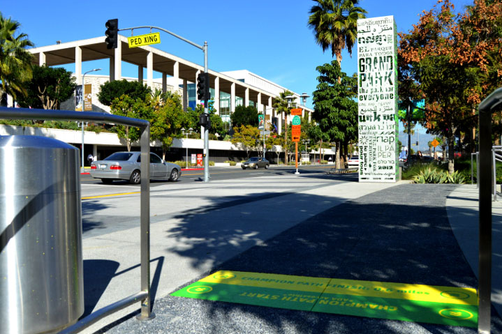 Sidewalk graphics for Grand Park, Los Angeles