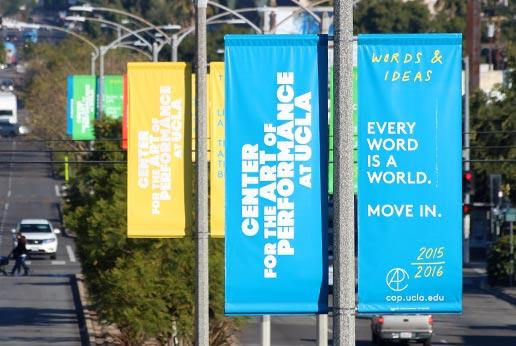 CAP UCLA city light pole banner campaign