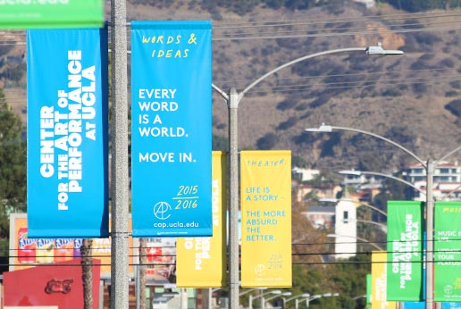 CAP UCLA effective city light pole banner campaign