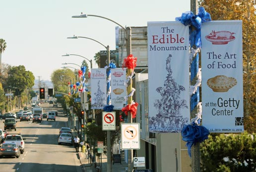 getty edible light pole banner campaign