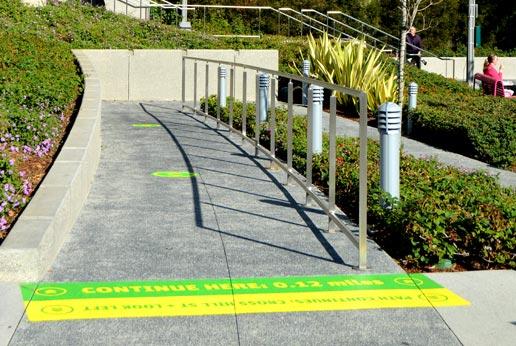 keep fit sidewalk graphics