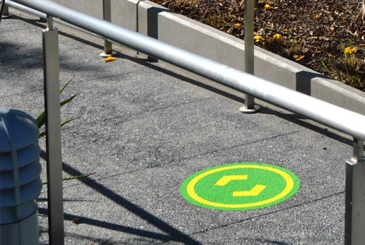 grand park sidewalk stickers from agmedia