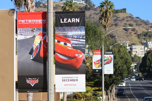 peterson automotive museum light pole banner campaign