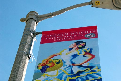 san antonio winery light pole banners by agmedia