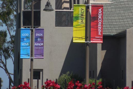 st vincent church parking lot banners