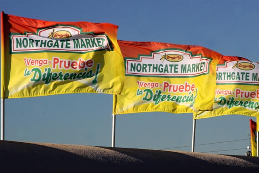 northgate markets roof flags