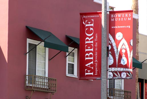 the bowers museum city light pole banner program