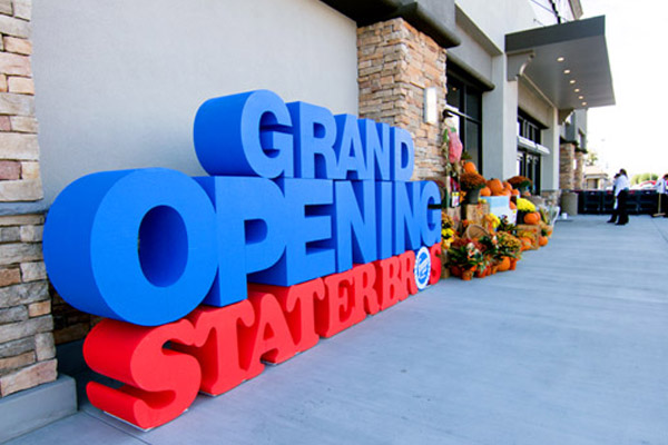 grand opening giant 3d foam letters