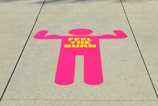 floor and sidewalk stickers